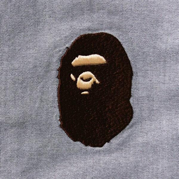 【EST O】A BATHING APE LARGE APE HEAD OXFORD BD SHIRT 襯衫 灰 G0908 2