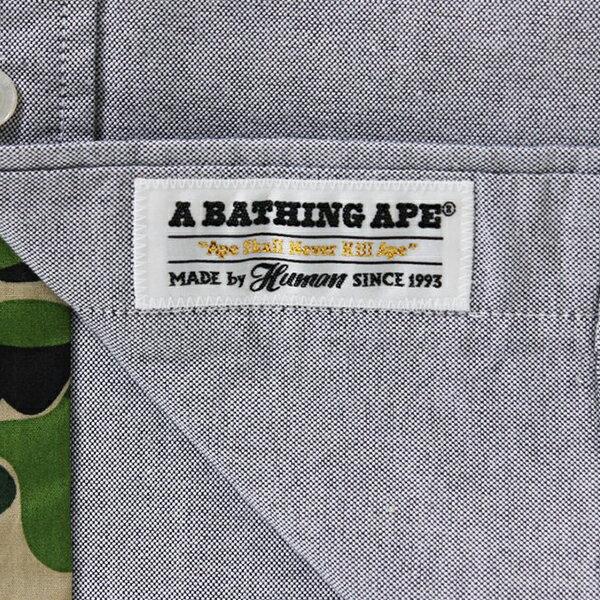 【EST O】A BATHING APE LARGE APE HEAD OXFORD BD SHIRT 襯衫 灰 G0908 3