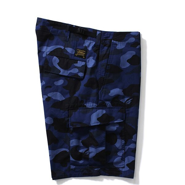 【EST O】A BATHING APE COLOR CAMO 6POCKET SHORTS 短褲 藍迷彩 G0908 2