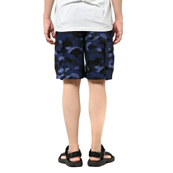 【EST O】A BATHING APE COLOR CAMO 6POCKET SHORTS 短褲 藍迷彩 G0908 6