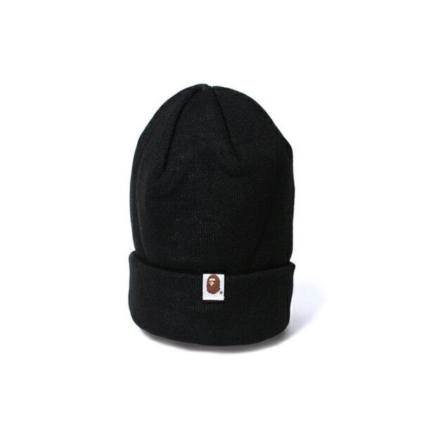 【EST O】A Bathing Ape Bape Knit Cap 毛帽 黑 G1004 1