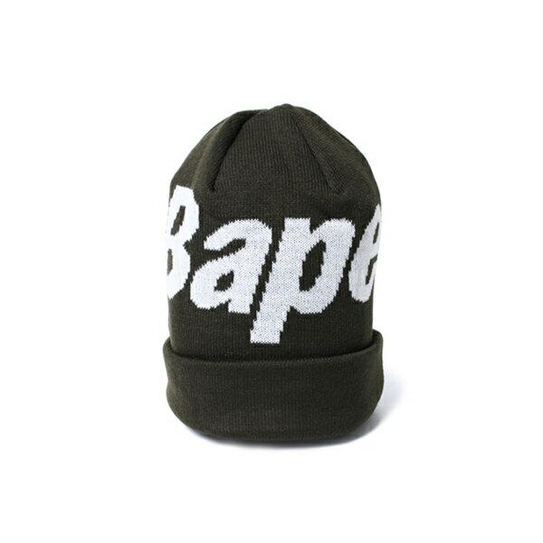 【EST O】A BATHING APE BAPE KNIT CAP 毛帽 綠 G1004
