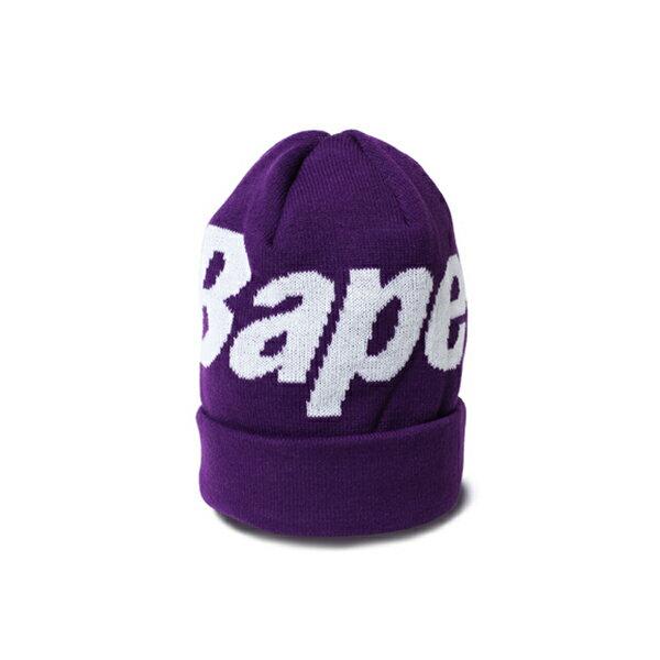 【EST O】A BATHING APE BAPE KNIT CAP 毛帽 紫 G1004 0