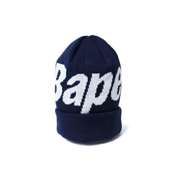 【EST O】A BATHING APE BAPE KNIT CAP 毛帽 藍 G1004