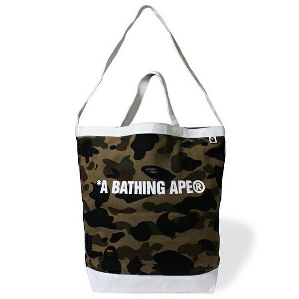 【EST O】A Bathing Ape 1St Camo Shoulder Tote Bag 手提側背包 綠 G0908 0