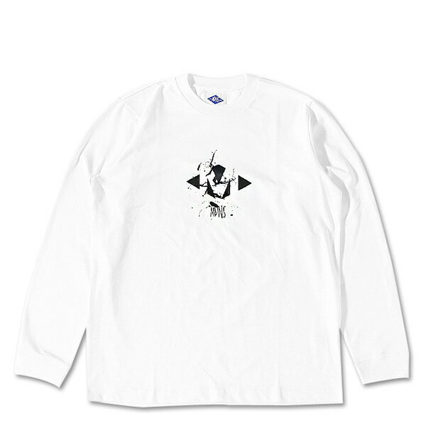 【EST O】MADNESSLONG SLEEVES 長TEE 大學TEE 白 F1106