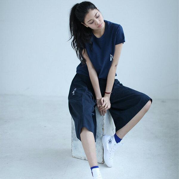 【EST O】MADGIRL CULOTTES 七分 闊腿褲 寬褲 深藍 G0720 2
