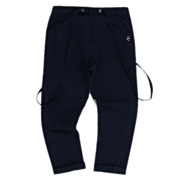 【EST O】Madgirl Unwashed Chino Pants Withsuspenders 休閒 吊帶 長褲 深藍 G0720 1