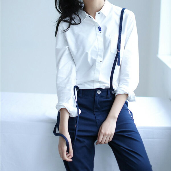 【EST O】Madgirl Unwashed Chino Pants Withsuspenders 休閒 吊帶 長褲 深藍 G0720 2