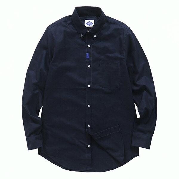 【EST O】Madness Never Give Upoxford Shirt 口袋 長袖 襯衫 深藍 G0720 0