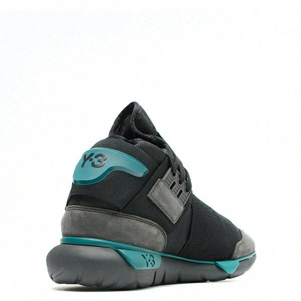 【EST O】Adidas Y-3 Qasa High Bb4735 高筒 忍者鞋 男女鞋 黑綠 G0905 2