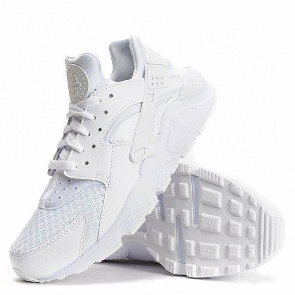 【EST S】NIKE HUARACHE RUN DAD-318429-111 白武士 皮革 網布 慢跑鞋 G1011 1