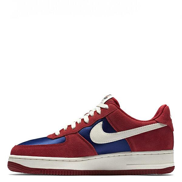 【EST S】NIKE AIR FORCE 1 488298-626 紅藍白麂皮尼龍布剪刀 男鞋 G1012