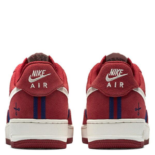 【EST S】NIKE AIR FORCE 1 488298-626 紅藍白麂皮尼龍布剪刀 男鞋 G1012 3
