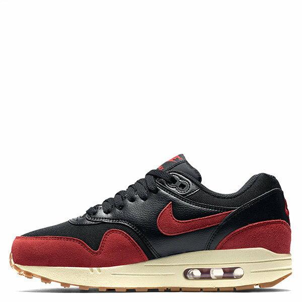 【EST S】NIKE WMNS AIR MAX 1 ESSENTIAL 599820-018 麂皮 慢跑鞋 女鞋 黑紅 G1011 0