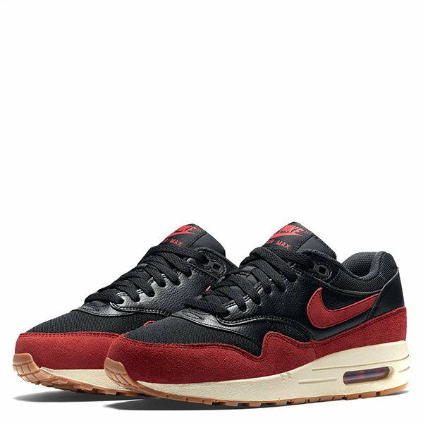 【EST S】NIKE WMNS AIR MAX 1 ESSENTIAL 599820-018 麂皮 慢跑鞋 女鞋 黑紅 G1011 1