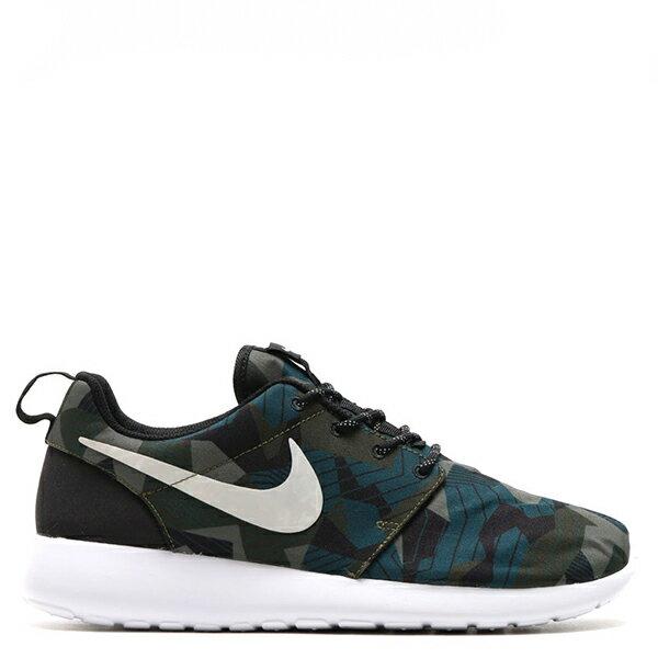 【EST S】NIKE ROSHE ONE PRINT 655206-300 綠迷彩綠白細繩點點鞋帶 男鞋 G1012