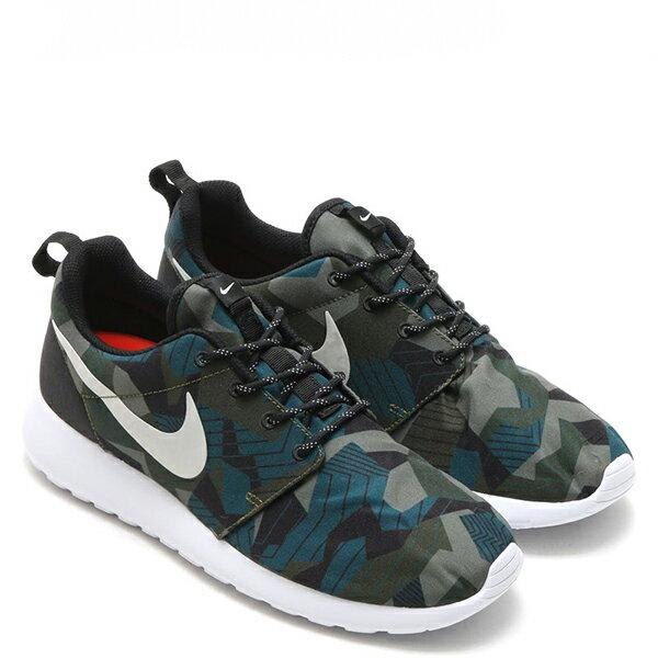 【EST S】NIKE ROSHE ONE PRINT 655206-300 綠迷彩綠白細繩點點鞋帶 男鞋 G1012 1