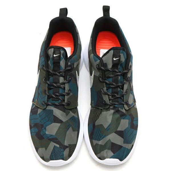 【EST S】NIKE ROSHE ONE PRINT 655206-300 綠迷彩綠白細繩點點鞋帶 男鞋 G1012 2