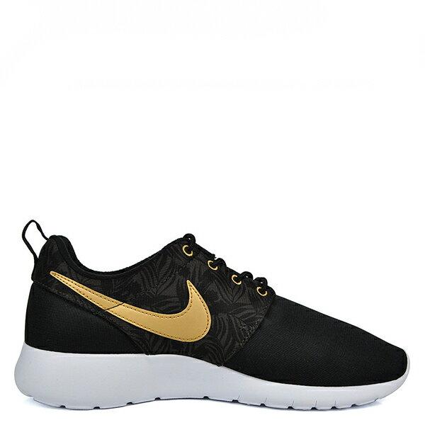 【EST S】Nike Rosherun One Gs Print 677782-010 白底黑金慢跑鞋 大童鞋 G1012 1