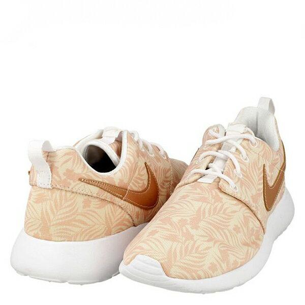 【EST S】NIKE ROSHE ONE PRINT GG 677784-200 花卉金勾格紋 大童鞋 G1012 2