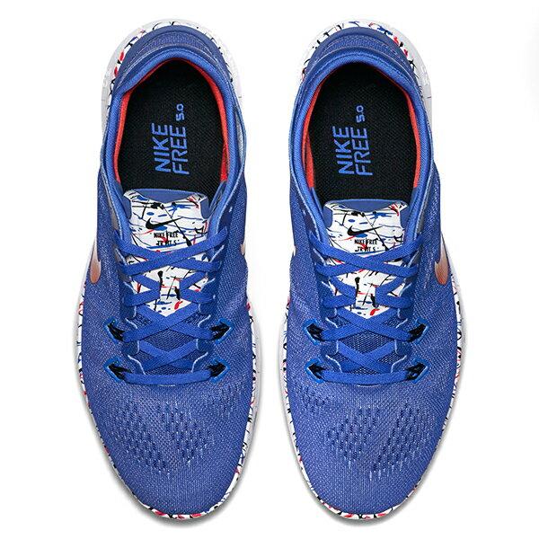 【EST S】NIKE FREE 5.0 TR FIT 5 PRT 704695-405 赤足透氣藍 女鞋 G1012 2