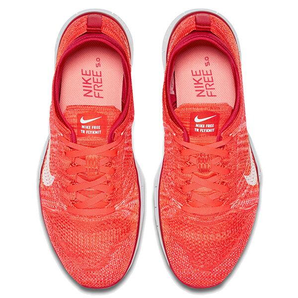 【EST S】NIKE WMNS FREE 5.0 TR FLYKNIT 718785-601 赤足 編織 訓練 慢跑鞋 女鞋 橘 G1011 2