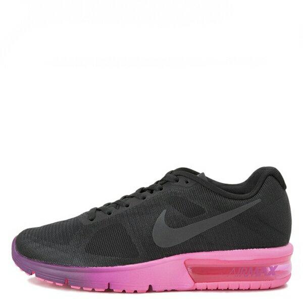 【EST S】NIKE AIR MAX SEQUENT 719916-015 黑桃紅漸層大氣墊 女鞋 G1012