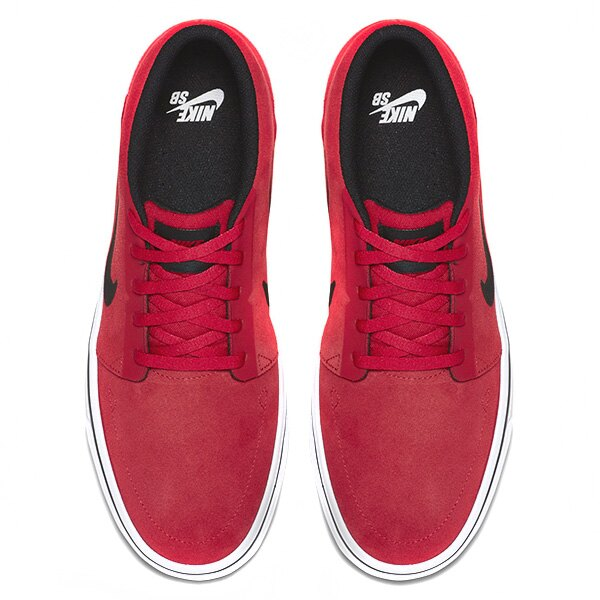【EST S】NIKE SB PORTMORE MID 749633-600 中筒 麂皮 黑線 休閒鞋 男鞋 紅 G1011 2