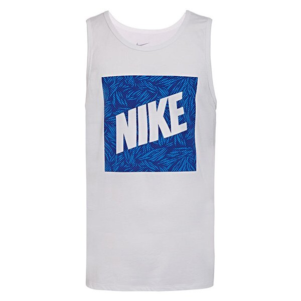 【EST】Nike Tank Palm Print Box 779781-100 夏日 花草 背心 白 [NI-4413-001] G0610 0