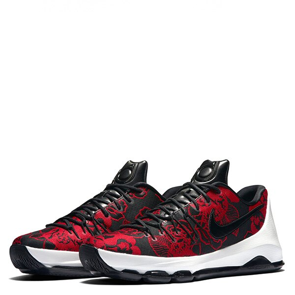 【EST S】Nike Kd 8 Ext 806393-004 電繡玫瑰皮革籃球鞋 黑紅白 男鞋 G1012 1