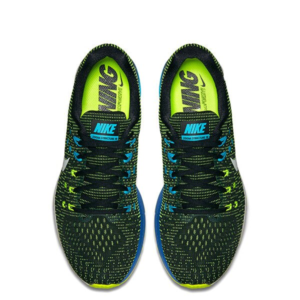 【EST S】NIKE AIR ZOOM STRUCTURE 19 806580-010 FLYMESH鞋面 慢跑鞋 男鞋 黑 G1011 2