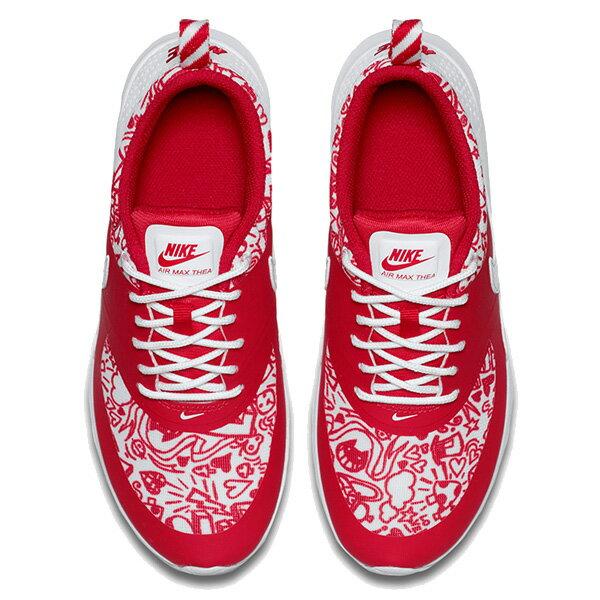 【EST S】NIKE AIR MAX THEA SE GS 820244-600 塗鴉 慢跑鞋 大童鞋 紅 G1011 2