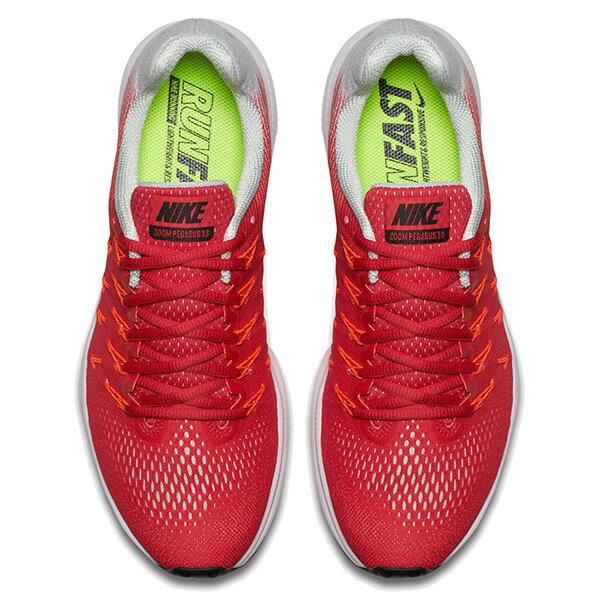 【EST S】Nike Air Zoom Pegasus 33 831352-600 飛線 慢跑鞋 男鞋 紅 G1011 2