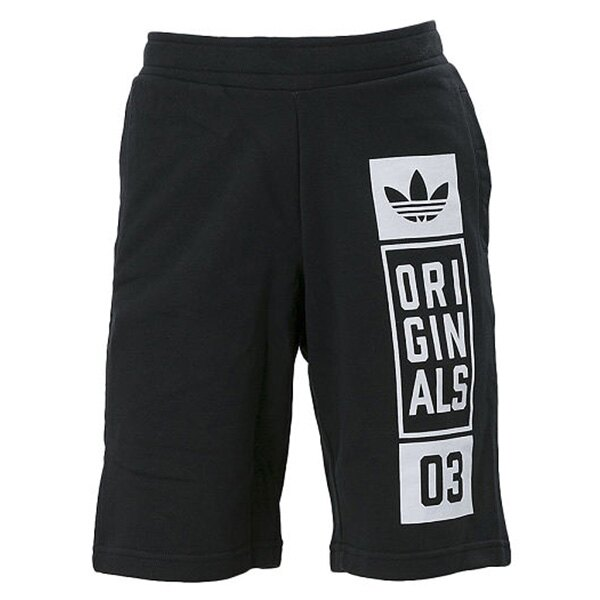 【EST S】ADIDAS ORIGINALS STREET GRAPHIC SHORT AJ7634 短褲 五分褲 棉褲 黑 G0818 0