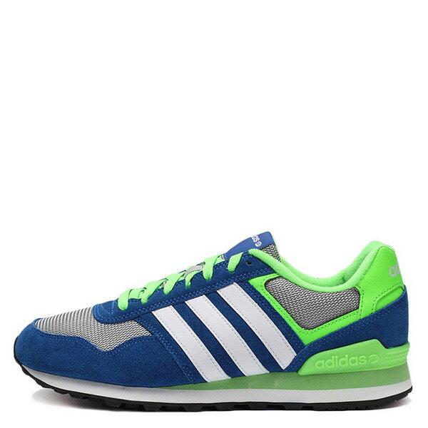【EST S】ADIDAS NEO 10K ZX FLUX AQ1563 復古慢跑鞋 寶藍螢光綠 G1021