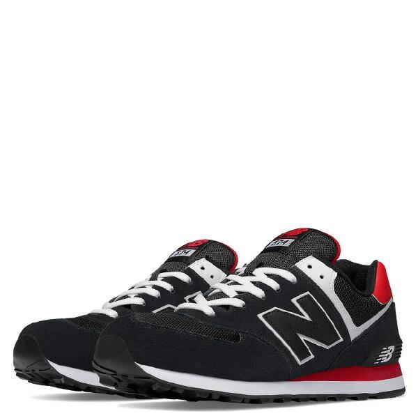 【EST S】NEW BALANCE ML574CPA 麂皮 網布 復古 慢跑鞋 男鞋 黑紅 G1018 2