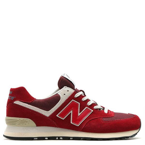 【EST S】New Balance ML574FBR 麂皮 奶油底 網布 復古 慢跑鞋 男鞋 紅 G1018 1