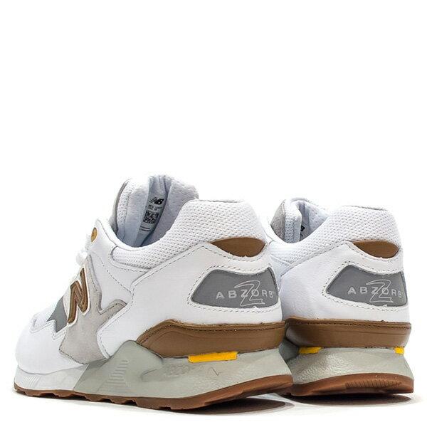 【EST S】New Balance ML878ATA 麂皮 膠底 反光 慢跑鞋 男鞋 白 G1018 3
