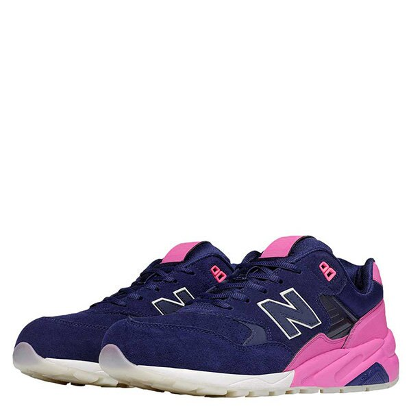 【EST S】NEW BALANCE MRT580UP 反光 果凍底 麂皮 慢跑鞋 男鞋 粉紫 G1018 2