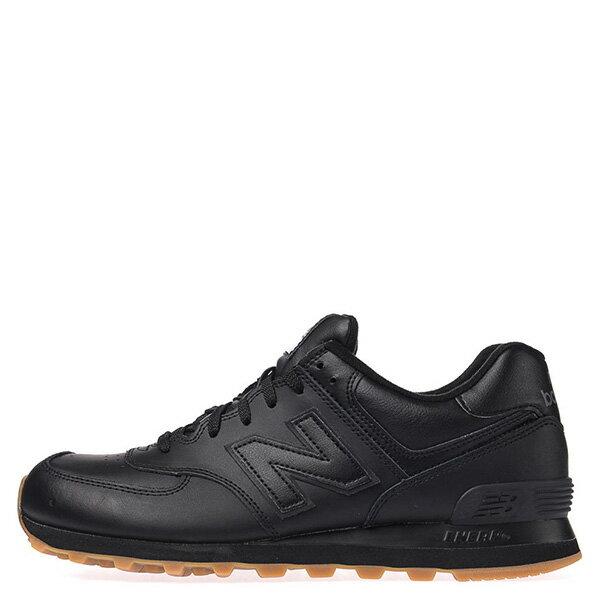 【EST S】NEW BALANCE NB574BAB 皮革 膠底 復古 慢跑鞋 男鞋 黑 G1018 0
