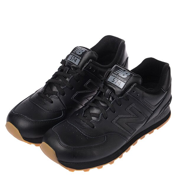 【EST S】NEW BALANCE NB574BAB 皮革 膠底 復古 慢跑鞋 男鞋 黑 G1018 1
