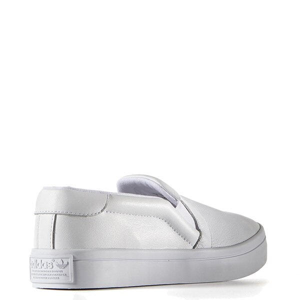 【EST S】ADIDAS WMNS COURTVANTAGE SLIP ON S75166 皮革 懶人鞋 女鞋 白 G0818 4