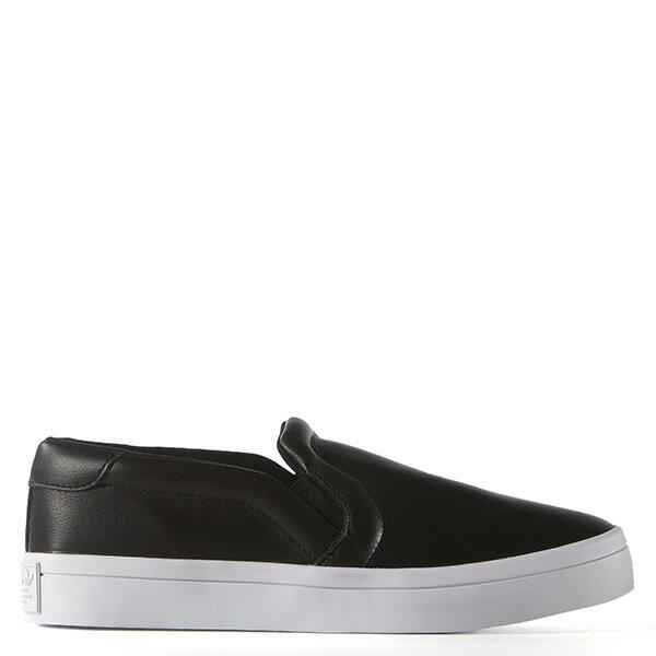 【EST S】ADIDAS WMNS COURTVANTAGE SLIP ON S75167 皮革 懶人鞋 女鞋 黑 G0818