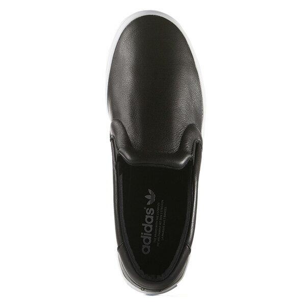 【EST S】ADIDAS WMNS COURTVANTAGE SLIP ON S75167 皮革 懶人鞋 女鞋 黑 G0818 1