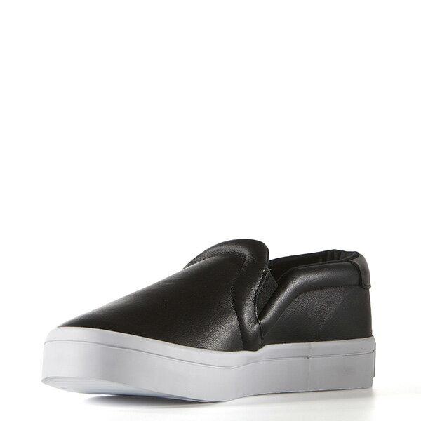 【EST S】ADIDAS WMNS COURTVANTAGE SLIP ON S75167 皮革 懶人鞋 女鞋 黑 G0818 3