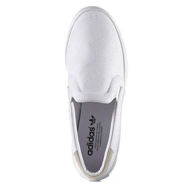 【EST S】ADIDAS WMNS COURTVANTAGE SLIP ON S75172 帆布 懶人鞋 女鞋 白 G1018 1