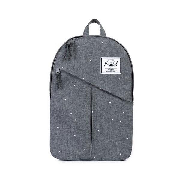【EST】HERSCHEL PARKER 斜拉鍊 15吋電腦包 後背包 點點 灰 [HS-0003-756] F0810 0