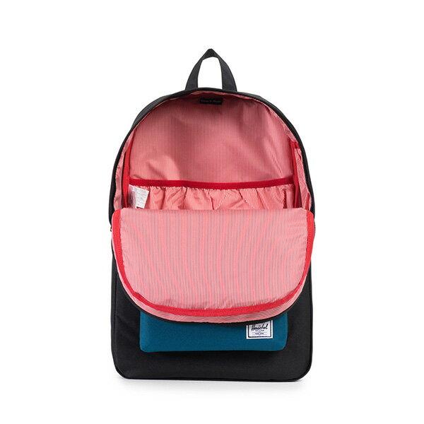 【EST】HERSCHEL HERITAGE 豬鼻 15吋電腦包 後背包 拚色 黑藍 [HS-0007-869] F1019 1