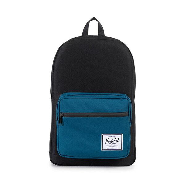 【EST】HERSCHEL POP QUIZ 15吋電腦包 後背包 拚色 黑藍 [HS-0011-869] F1019 0